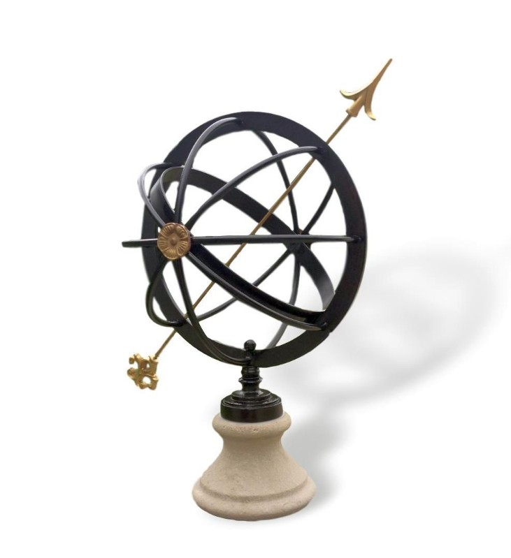 Wrought Iron and Brass Armillary Sphere