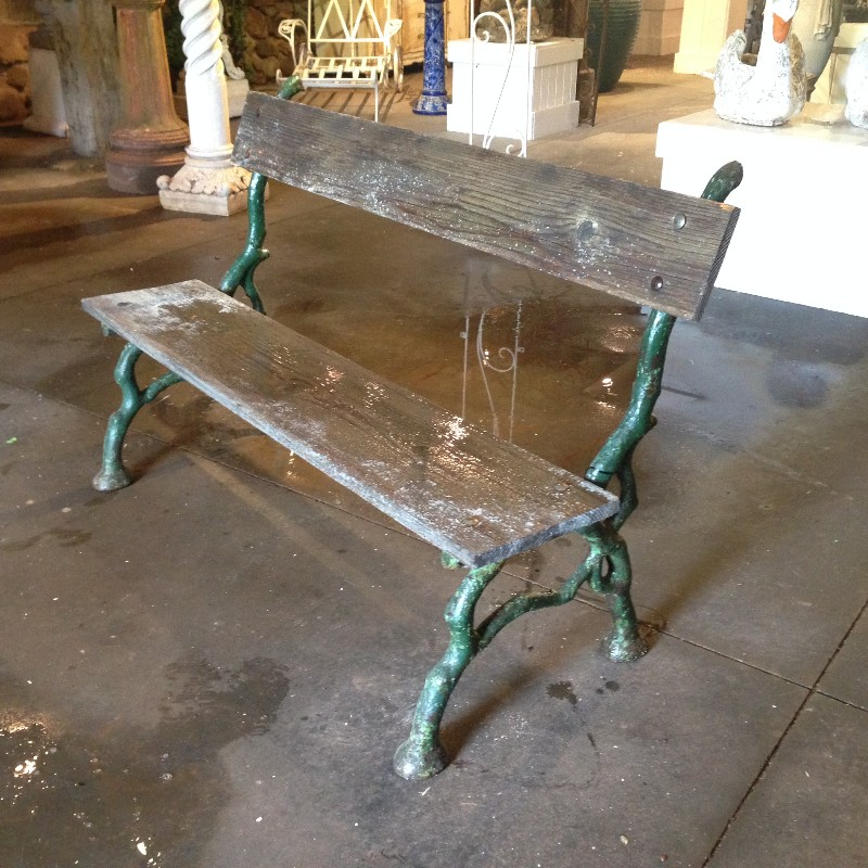 French Faux Bois Bench