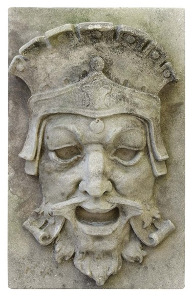 Cast Stone Broadway Strand Theater Mask