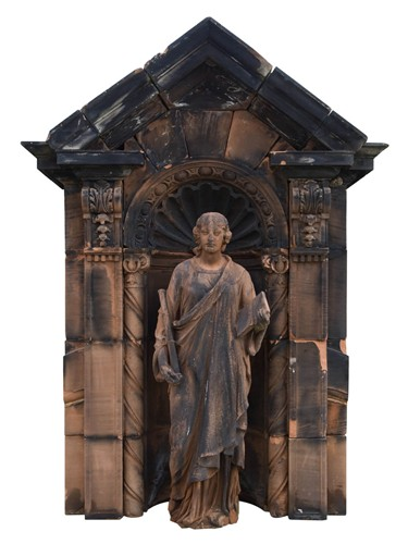 Carved Stone Scottish Figure and Niche