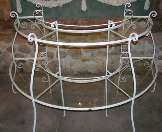 Iron Demilune Plant Stand