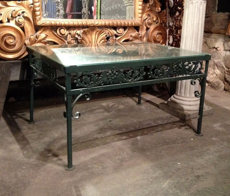Vintage Green Metal Coffee Table