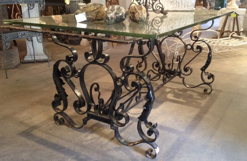 Wrought Iron French Table Base